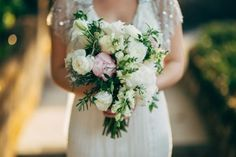 Lovely wedding bouquet. No fuss and enough movement for the flowers to breathe.