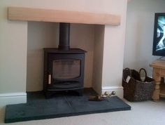 Stunning install of a C-Five Charnwood Wood Burning Stove  https://www.directstoves.com/charnwood-c-five-defra-approved-stove.html