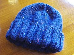 This simple textured hat is great to knit and to wear. (Lion Brand Yarn)