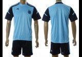 Germany Soccer Team Uniforms Blank Light Dark Blue at Soccer Sports Mania.
