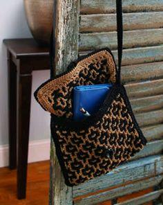 Interlocking crochet.