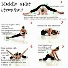 Can anyone learn to middle split at any age even if you've never been? Dancer Workout, Gymnastics Workout, Ballerina Workout, Dance Stretches, Yoga Moves, Yoga Exercises, Cheer Stretches, Splits Stretches For Beginners, Middle Splits Stretches