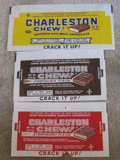 1970s Charleston Chews (Choc, Vanilla, Strawberry). Vanilla is still my favorite...tastes like vanilla taffy.