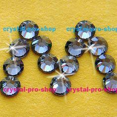 Swarovski Elements Silver Night (SINI) No Hotfix or Hotfix Iron On (ss5 - ss34) (2mm - 7mm) Crystal (432 / 36) Rhinestones