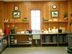 Image result for horse feed room organization
