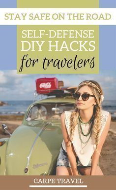 How to stay safe while traveling: self-defense DIY hacks for travelers that will make sure you are always prepared for anything while traveling | Sef defense diy weapons | Self defense diy for women | Self defense hacks safety tips - cia @elainschoch #womenselfdefensetips #selfdefenseforwomen #selfdefensetips