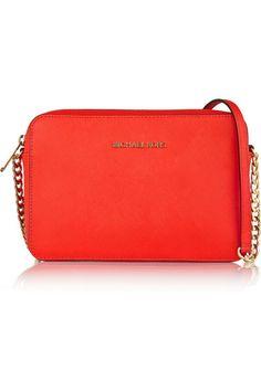 Papaya leather (Calf) Zip fastening along top Designer color: Mandarin