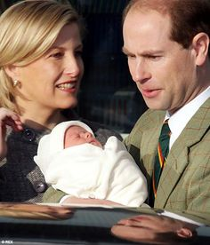 Edward and Sophie bringing home their second child and first son James