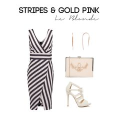 A beautiful stripe dress -  Get this Outfit on  le-blonde.com Personal Stylist & Personal Shopper - Outfits inspiration