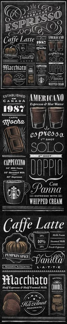 Chalk Lettering, Typography Letters, Coffee Typography, Coffee Cafe, Coffee Shop, Espresso Coffee, Italian Espresso, Coffee Barista, Coffee Humor
