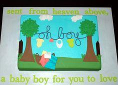 Baby Shower Clothesline Cake