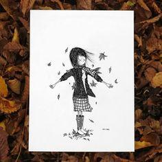 """girl... """"autumn leaves"""""""