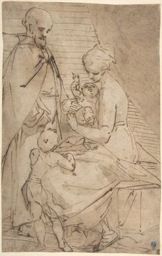 Luca Cambiaso   The Holy Family with the Infant Baptist   The Met