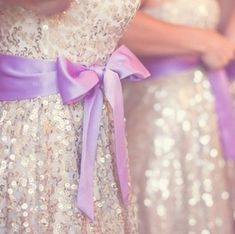 Sparkles... Bridesmaid dresses in a different color?