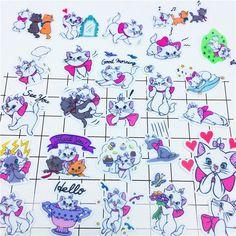 Aufkleber 40 Stücke Cartoon Blaue Katze Tägliche Papier Dicht Aufkleber Handwerk Und Scrapbooking Buch Dekorative Aufkleber Diy Schreibwaren Gute QualitäT