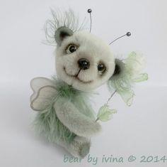 Poletušek Růžičkový - medvědí motýlek cm) / Zboží prodejce ivi-na Plush, Dolls, Artist, Handmade, Sweet, Animals, Teddy Bears, Baby Dolls, Candy