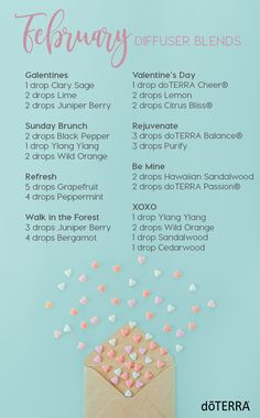 Try these new diffuser blends! Fun and festive for the month of February!
