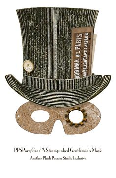 Plush Possum Studio: Steampunk Party Mask for Gents