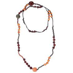 Halskette Perlenmix, Papaya