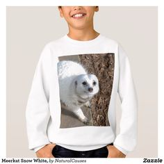 Meerkat Snow White,,Kids White  Sweatshirt