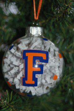University of Florida Gator glass ball ornament by craftinjenn, $5.99