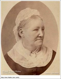 Mary Anne Walker (nee Lamb), daughter of Edward Lamb and Elizabeth Allenby