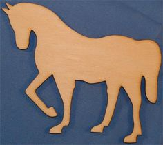 Unpainted Horse Wood Cutout | Unfinished Wood Cutouts | Wood Shapes