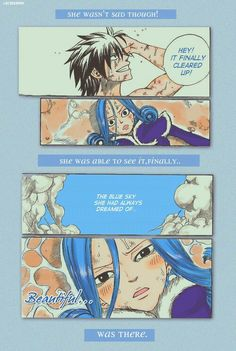 Because of Gray~♥️. I ship Gruvia because Gray is the one who got her into Fairy Tail and changed her. Even though she is obsessed with Gray, she really cares about him and he cares about her too. In the most recent episode, it was Gray vs Silver and there was a part where Gray thought of Juvia♥️And he said I'm sorry everyone. I really hope they become canon