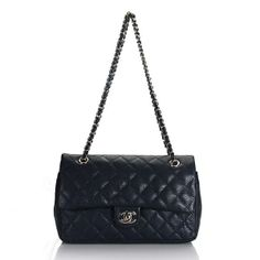 Chanel 2.55 caviar leather flap Bag Silver Chain 1112 deep blue replica  chanel bag fake chanel e91287a92e21b