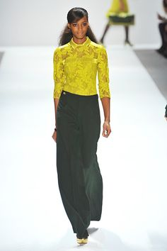 Nanette Lepore »  Fall 2012 RTW »    Not so much the outfit--but for some reason I am fascinated by the color combination.