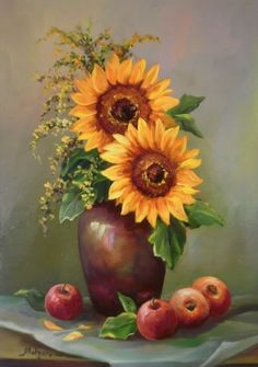 Trendy painting acrylic still life beautiful 62 Ideas Art Floral, Daisy Painting, Oil Painting Flowers, Pictures To Paint, Art Pictures, Sunflower Art, Ukrainian Art, Painting Still Life, Pastel Art