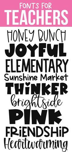 Cute Fonts, Fancy Fonts, Fun Free Fonts, Teacher Fonts Free, Free School Fonts, Cricut Fonts, Free Fonts For Cricut, Cricut Ideas, Handwritten Fonts