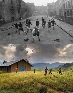 niños-jugando-futbol-Inglaterra-antes-y-ahora-Uganda-2