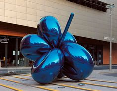"Jeff Koons,""Balloon Flower (Blue),"" 1995-1999. High Chromium Stainless Steel with Transparent Color Coating."