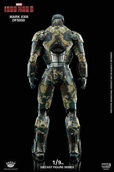 Iron Man 3 DFS050 Iron Man Mark XXIII Shades 1/9 Scale Figure All Iron Man Suits, Marvel Avengers, Marvel Comics, Iron Man Fan Art, Iron Man Poster, Hot Toys Iron Man, Arc Reactor, Best Iron, Blender Tutorial
