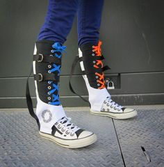 Silly but entertaining fan-made version of Chell's springheel boots from Portal 2