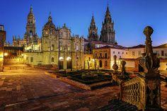 Cathedral, Santiago de Compostela, Camino de Santiago, Galicia, Spain.