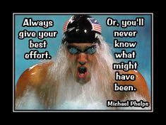 "Swimming Motivation Michael Phelps Swimmer Photo Quote Swim Poster Wall Art Print 5x7""- 11x14"" Always Give Your Best Effort - Free Ship by ArleyArt on Etsy"