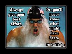 Swimming Motivation Michael Phelps Swimmer Photo Quote Swim Poster Wall Art…