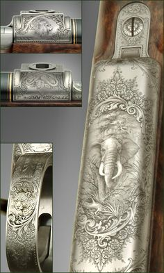 Ornately Carved Rifle
