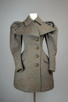 Coat, 1894 From the Irma G. Bowen Historic Clothing Collection at the University of New Hampshire : Coat, 1894 From the Irma G. Bowen Historic Clothing Collection at the University of New Hampshire 1890s Fashion, Edwardian Fashion, Women's Fashion, Antique Clothing, Historical Clothing, Vintage Dresses, Vintage Outfits, Brown Wool Coat, University Of New Hampshire
