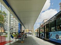 BUS STOP IN AVILES (SPAIN)