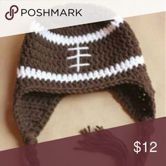 Football hat Machine washable on delicate,  hang dry, size 1 year Accessories Hats