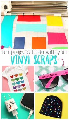 cricut vinyl projects Are you looking for fun ways to use your adhesive vinyl or heat transfer vinyl scraps? We have some fun projects that you can make with your Silhouette machi Silhouette Cameo 4, Silhouette Cameo Projects, Silhouette Portrait Projects, Silhouette School, Silhouette Design, Circuit Projects, Fun Projects, Circuit Crafts, Vinyle Cricut