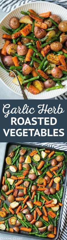 garlic roasted vegatbles
