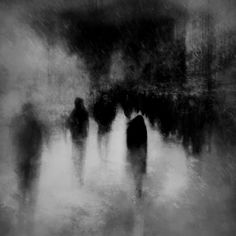 Adrift In A Sea Of Beings by ParallelDeviant on DeviantArt Dark Fantasy Art, Dark Art, Aesthetic Art, Aesthetic Pictures, John Batho, Lila Baby, Dark Photography, Black And White Aesthetic, Silhouette