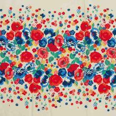 Print Cotton Lawn Design 28 Floral Cream Pink 150cm