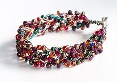 Gallant Wire Crochet Cuff Bracelet