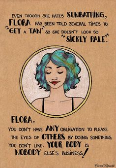 Flora (being pale/beauty standards) by Carol Rossetti | feminism