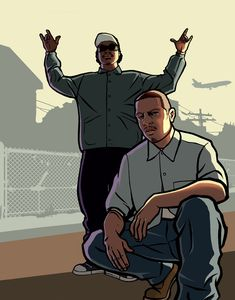 View an image titled 'Ryder & Carl Art' in our Grand Theft Auto: San Andreas art gallery featuring official character designs, concept art, and promo pictures. Grand Theft Auto Games, Grand Theft Auto Series, Arte Do Hip Hop, Hip Hop Art, Rockstar Games Gta, Gta Pc, Gta Funny, San Andreas Gta, Gta Online